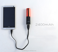 Ultra slim lipmax powerbank 2400mah Rechargeable PowerBank for wamen christmas gift