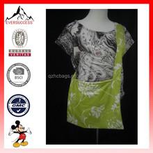 New Design Polyester Green Printed Shoulder Long Strip Bag