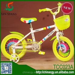 Hot sale new design 12 inch bike yellow girl child bike