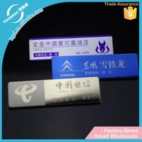 Custom brand metal printing company logo nameplate labels