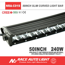 LIFETIME Warranty Single Row Curved Super Slim Wholesale Off Road LED Light Bar
