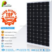 Powerwell Solar 300W Mono Solar PV Module With CE/IEC/TUV/ISO/CEC Approval Standard 300 Watt Solar Panel