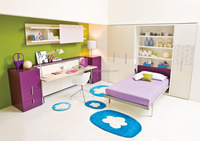 murphy bed,murphy bed wall bed with desk,horizontal wall bed