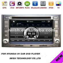 "2dins 6.2"" brand iwish car dvd player gps for Hyundai H1 2012 android system"