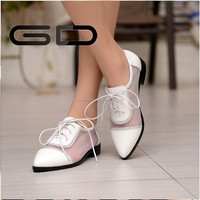 casual shoes pure color women cut-outs grenadine flat shoes sandles non-slip WHITE , BLACK rubber soles