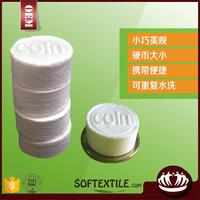 100% cotton fluffy tablet compressed towel