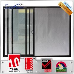 Australia standard double glazed soundproof glass sliding aluminium removable doors
