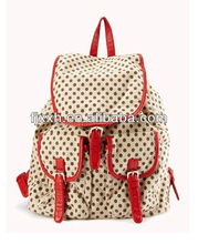 floral canvas drawstring backpacks with flap for college girls