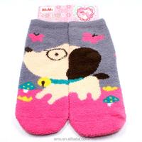wholesale warm soft terry towel socks loyal cute dog sleeping socks