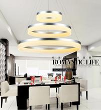 Chinese style circle led pendant light hardware acrylic hanging lamp dining led droplight