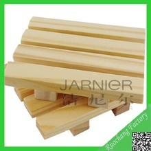 Environment Friendly Five Stripes Frame Wood Double Soap Dish Bathroom Wooden Soap Holder