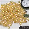 zhuji 8-9 mm AAA gold round loose wholesale freshwater pearls