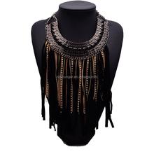 2015 za design wholesale national weaving Street retro Bohemia Necklace sweater chain