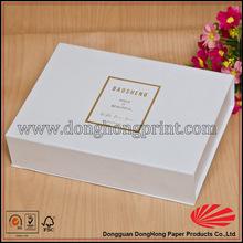 Custom elegant a4 size paper box makeup gift box for brush packaging