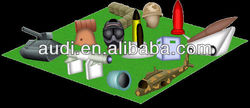 Custom inflatable paintball bunker (War Theme)