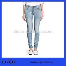 las mujeres de moda apretado delgado diseño de la mujer pantalones vaqueros pantalones