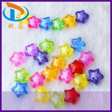 Hot Sale 12MM Colorful Transparent Chunky Acrylic Star Beads in Beads for Little Girl Necklace Jewelry