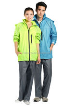 adult waterproof foldable polyester blank rain coat