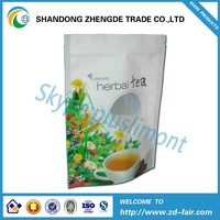 Clear PE Tea Packaging Bag With Zipper And Tear Notch
