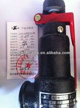 spring low safety valve with lever A27W series