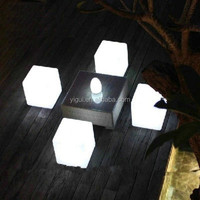 best sale outdoor garden 40cm Color Changing light chair Led Cube