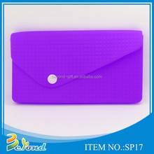 New lady pretty good quality wholesale silicone coin purse clasp wallet