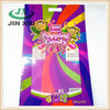Colorful zipper bottom gusset popping candy packing bag