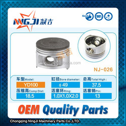 Motorcycle Engine Parts Motorcycle Piston set for Chinese Motorcycle YD100 49mm diameter