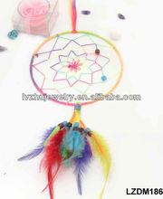 hanging feather dream catcher for wall decor LZDM186