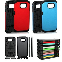 For Galaxy S6 Hybrid TPU+PC Silicone SGP Tough Armor Hard Phone Back Case Cover witn 2 in 1 shockproof For Samsung G9200