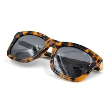 Tortoise Frame Fashion Acetate Neutral Sunglasses