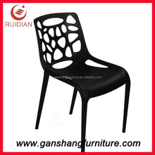 Plastic chair hollow out plastic chair whole injection mould chair