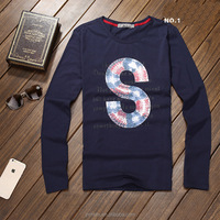 long sleeve made in china custom t shirts,fashion screen print t shirts supplier
