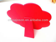 office table standing PU leather photo frame red flower shaped made in china wholesale