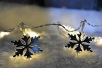 10L string mirror light battery light snowflake