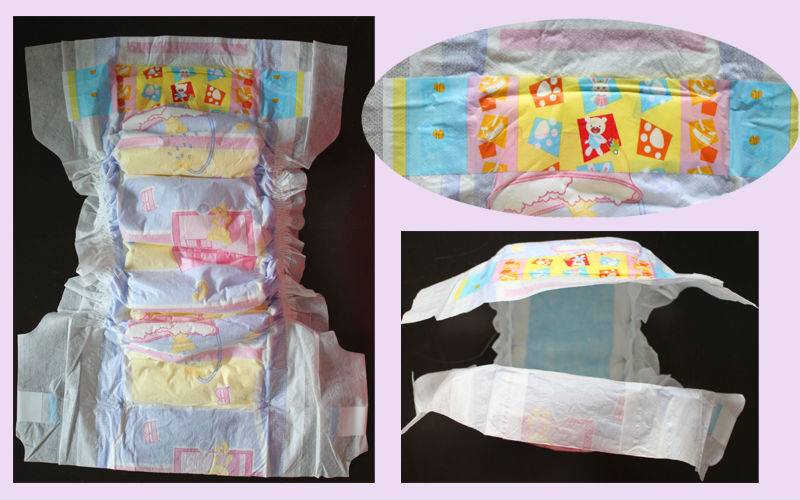 2014 hot selling organic diapers China factory WB013
