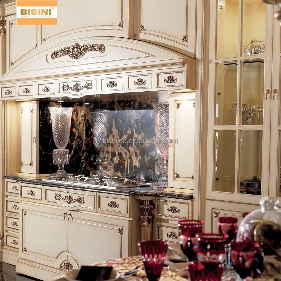 Victorian style wooden kitchen cabinet exquisite hand for Carved kitchen cabinets