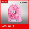 MINI size easy carry LED light usb charge cable rechargeable electric stand fan