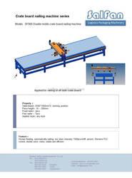CUSTOMIZE stiching machine for wooden crates, automatic wood stiching machine
