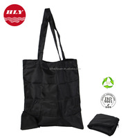 China Factory Wholesale Customized 210D Foldable Zipper Tote Bag Nylon
