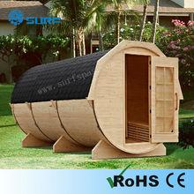 2015 New Outdoor Garden Barrel Shape Finland Steam Sauna Room