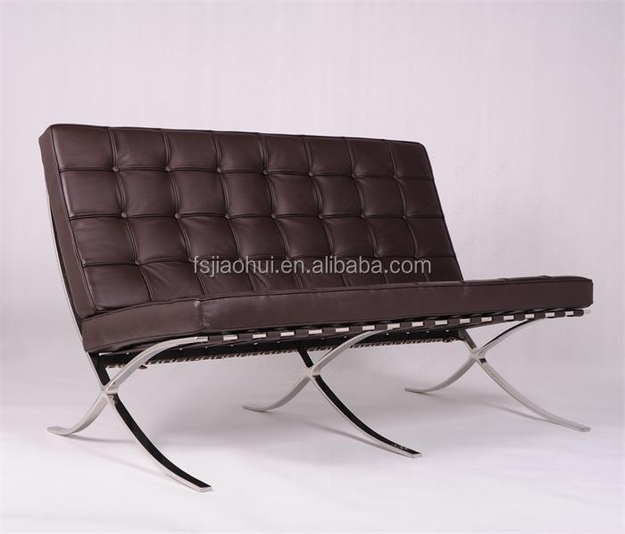 White Leather Barcelona Chair Ottoman Barcelona Chair