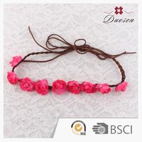 China wholesale mini rose flower headband,christmas garland