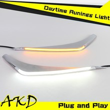 AKD Car Styling Toyota Highlander LED DRL 2012 Highlander LED Eye Brow LED Daytime Running Light Good Quality LED Fog lamp