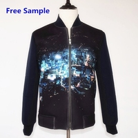 Free sample men jacket 2015 Spring and Autumn thin cotton casual 3D print men's coat