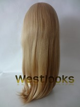 Superior Virgin Unprocessed Blonde Color Jewish Mongolian Hair Band Falls