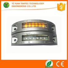 led high flashing reflective cat eye highway led solar driveway marker light