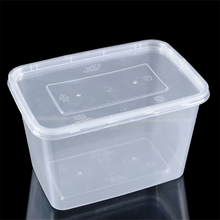 hard plastic packaging box Transparent disposable plastic lunch box/pp environmental snack box