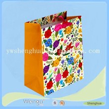 hot sell new products folding flowers gift paper bag manufacturer/packing shopping bag