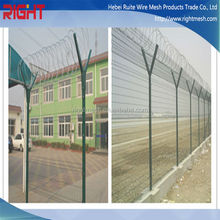 High Security Razor Barbed Wire air port fence / corten steel metal outdoor privacy wire mesh screen